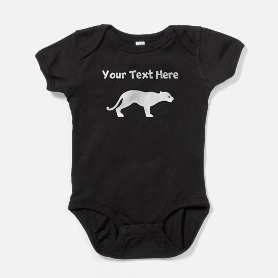 Custom Panther Silhouette Baby Bodysuit