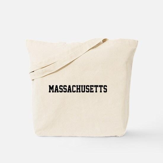 Massachusetts Jersey Font Tote Bag