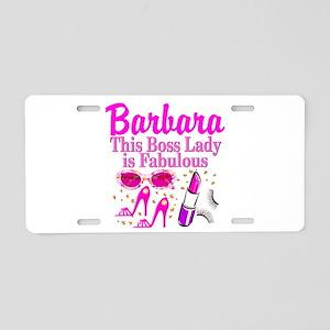 CUSTOM BOSS LADY Aluminum License Plate