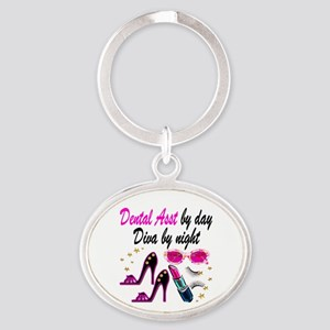 CHIC DENTAL ASST Oval Keychain
