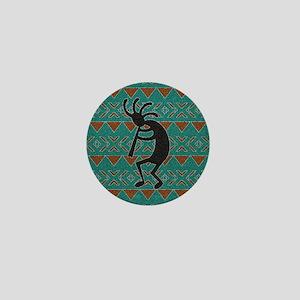Kokopelli Turquoise Southwest Design Mini Button