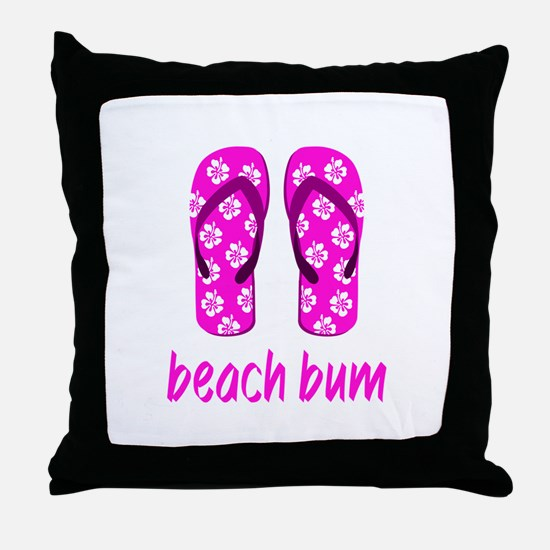 Funny Flipflop Throw Pillow