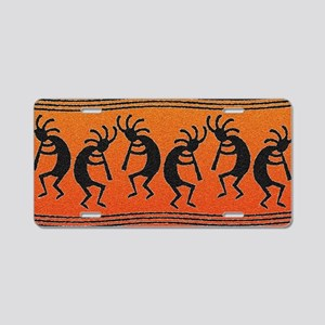 Southwest Kokopelli Pattern Aluminum License Plate