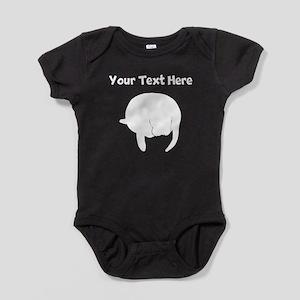Custom Manatee Silhouette Baby Bodysuit