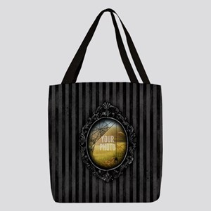 YOUR PHOTO Gothic Frame Spider Polyester Tote Bag