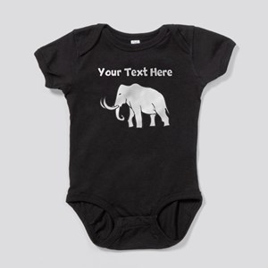 Custom Mammoth Silhouette Baby Bodysuit