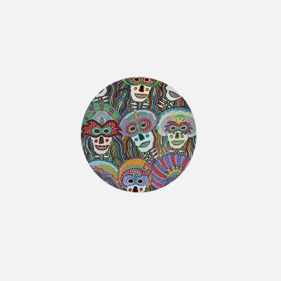 La Mascarada de los Muertos Mini Button
