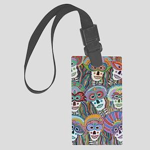 La Mascarada de los Muertos Large Luggage Tag