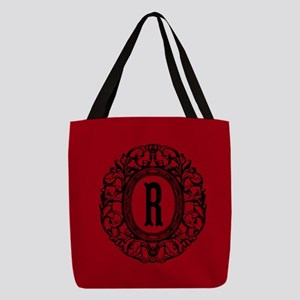 MONOGRAM Vintage Gothic Oval Polyester Tote Bag
