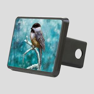 Chickadee Bird Rectangular Hitch Cover
