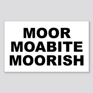 Moor Moabite Moorish Sticker (rectangle)