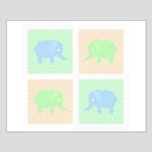 Pastel baby elephant pattern Small Poster