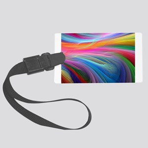 rainbow feathery Luggage Tag