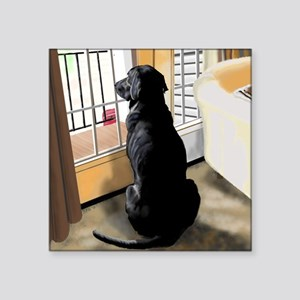 "Ajax Watches the World Go B Square Sticker 3"" x 3"""
