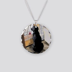 Ajax Watches the World Go By Necklace Circle Charm