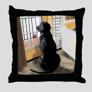 Ajax Watches the World Go By Throw Pillow