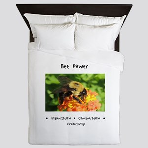 Bee Animal Medicine Queen Duvet