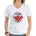Barroso Family Crest Women's V-Neck T-Shirt