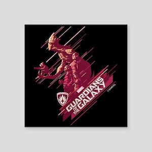 "GOTG Guardians Team Comic Square Sticker 3"" x 3"""