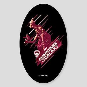 GOTG Guardians Team Comic Sticker (Oval)