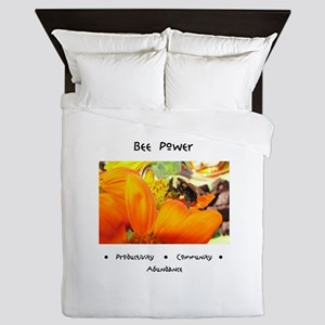 Bee Power Flower Queen Duvet