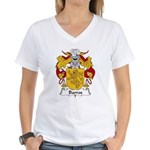 Barros Family Crest Women's V-Neck T-Shirt