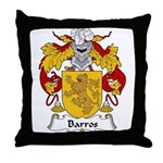 Barros Family Crest Throw Pillow