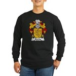 Barros Family Crest Long Sleeve Dark T-Shirt