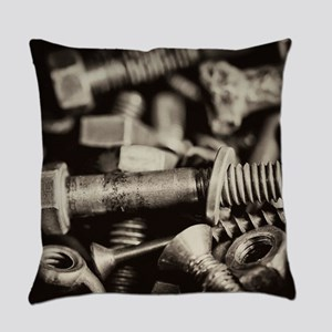 Wingnuts, Nuts, Bolts Everyday Pillow