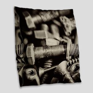 Wingnuts, Nuts, Bolts Burlap Throw Pillow