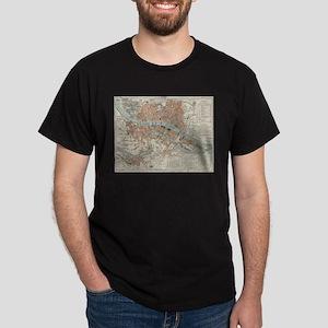 Vintage Map of Lyon France (1888) T-Shirt