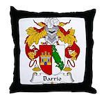 Barrio Family Crest Throw Pillow