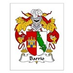 Barrio Family Crest Small Poster