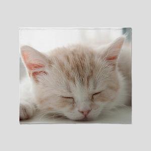 Sleepy Kitten Throw Blanket