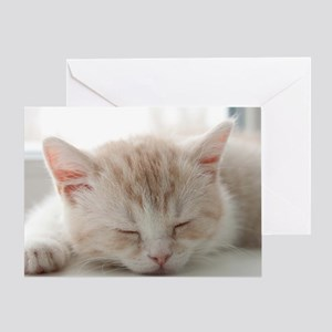 Sleepy Kitten Greeting Card