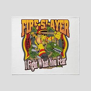 Fire Slayer Firefighter Throw Blanket