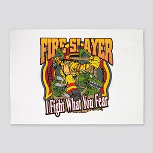 Fire Slayer Firefighter 5'x7'Area Rug
