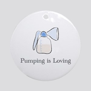 pumping Round Ornament