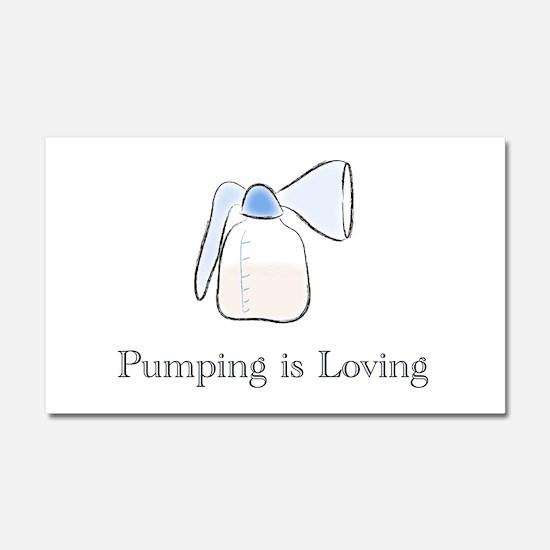 pumping.png Car Magnet 20 x 12