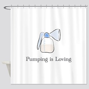 pumping Shower Curtain