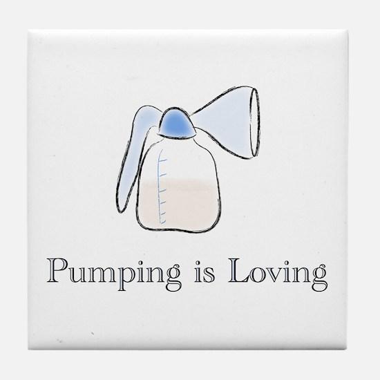 pumping.png Tile Coaster
