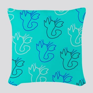 Loony Lobster for Leonard Woven Throw Pillow
