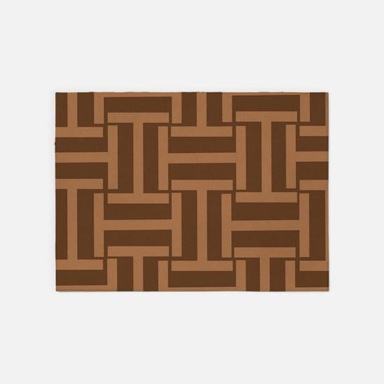 Mocha and Cocoa T Weave 5'x7'Area Rug