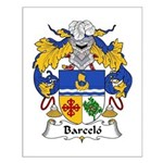 Barcelo Family Crest Small Poster