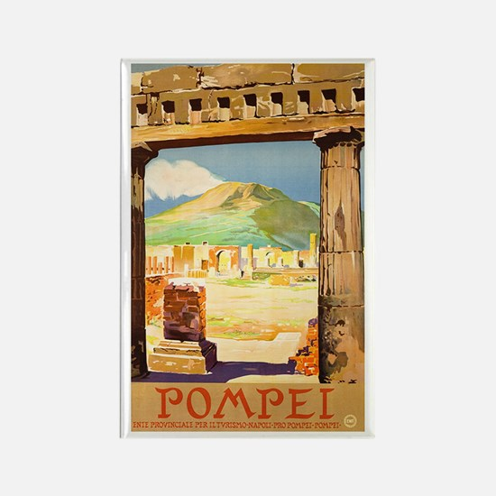 Pompei Italy ~ Vintage Travel Rectangle Magnet
