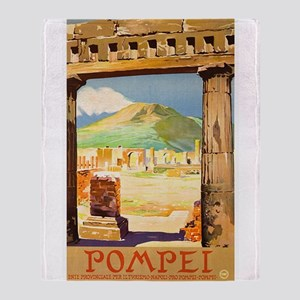 Pompei Italy ~ Vintage Travel Throw Blanket