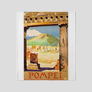 Pompei Italy ~ Vintage Travel Throw Blanket