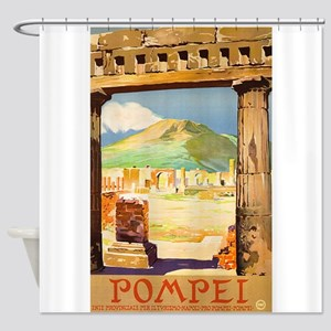 Pompei Italy ~ Vintage Travel Shower Curtain