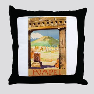 Pompei Italy ~ Vintage Travel Throw Pillow