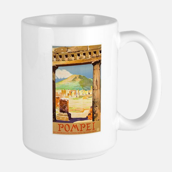 Pompei Italy ~ Vintage Travel Large Mug